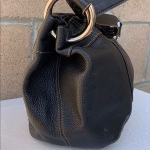 Tignanello Bags - Tignanello Pebble Leather Ring Hobo handbag black